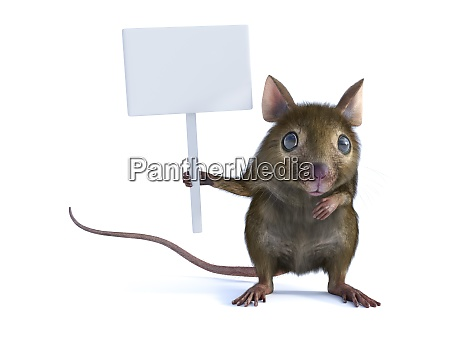 3d rendering of a mouse holding
