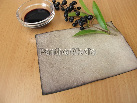 handmade laid paper dyed with privet