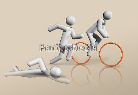 triathlon 3d icon olympic sports