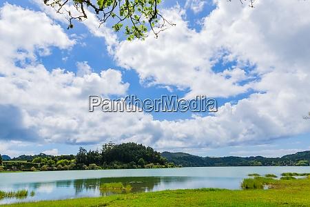 furnas lake in sao miguel island