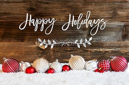 christmas ball ornament snow calligraphy happy