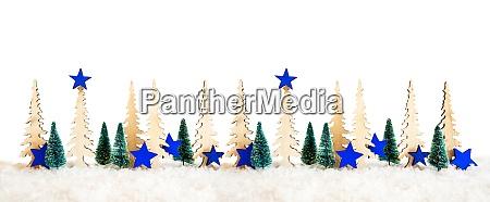 christmas tree banner blue star decoration