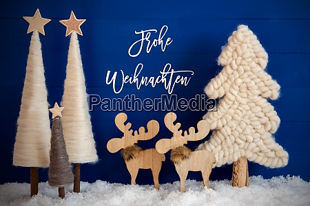 christmas tree moose snow frohe weihnachten