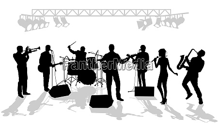 music group on the stage