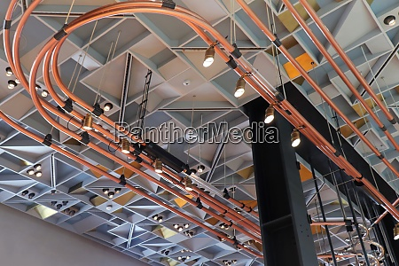 pipes on ceiling interior