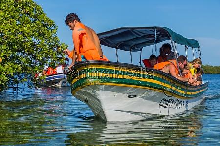 tourists on a boat