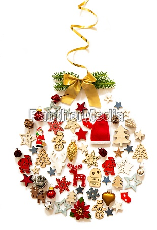 christmas ball decoration and ornament fir