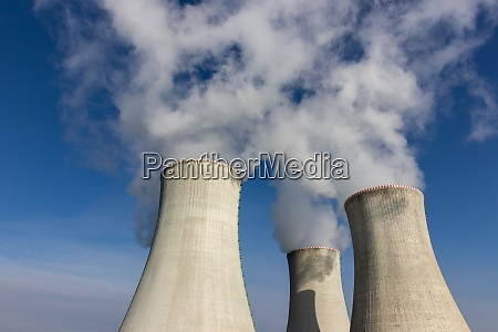 cooling towers of a nuclear power