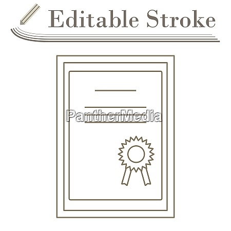 certificate under glass icon