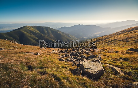 meadows and hills in low tatra