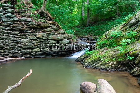 a dreamy stream of water flowing