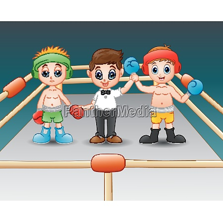 two boxers at the boxing ring