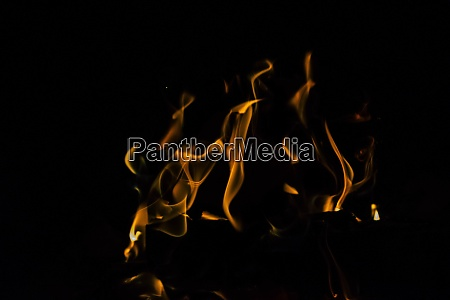 camping fire and flames