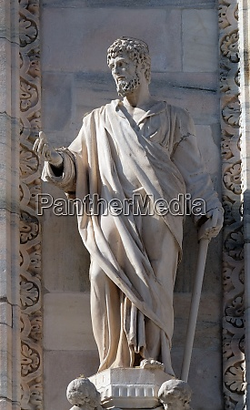 saint justin statue on the milan