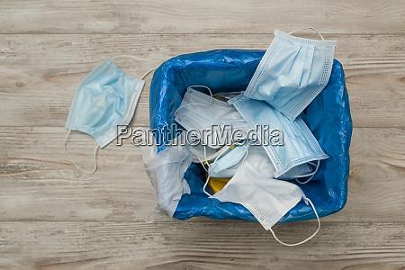 used surgical masks