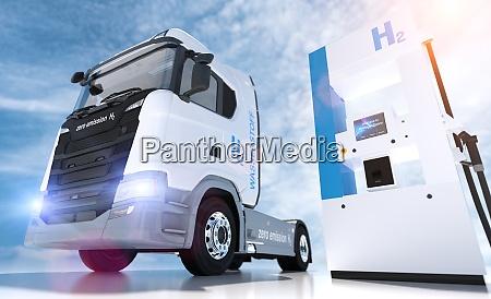 hydrogen logo on gas stations fuel