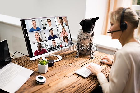 video conference webinar call