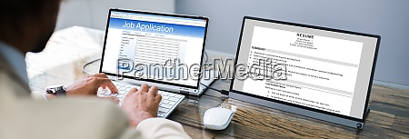 african job applicant sending resume