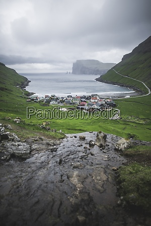 denmark village at coastline