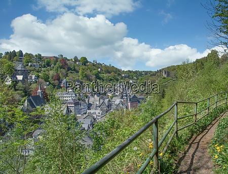 village of monschau in the eifel