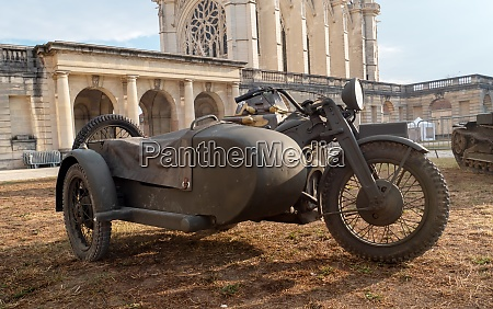 old french military motorcycle