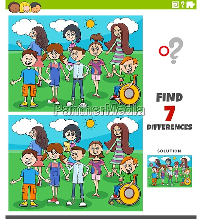 differences educational game with children and