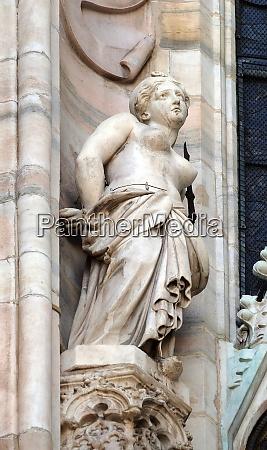 saint agatha of sicily statue on