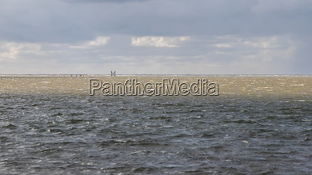sandbank westerheversand at high tide