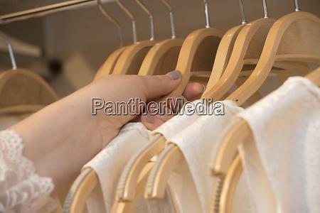 coat hanger on coat stand