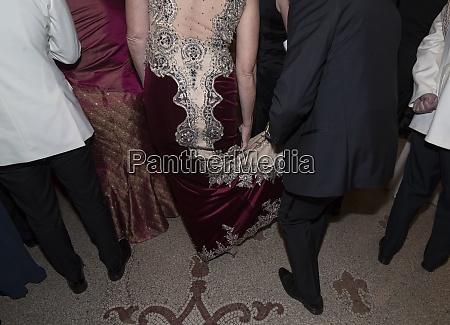 woman wearing an evening dress