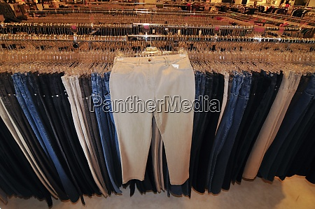 pants in a clothing store