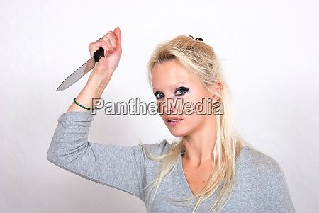 woman with knife