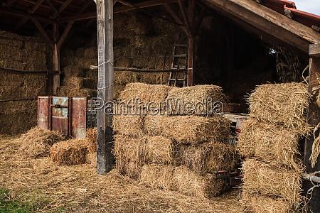 bales of hay at the rural