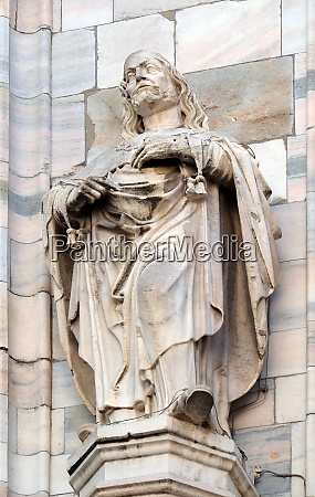statue of saint on the facade