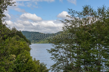 tinquilco lake in huerquehue national park