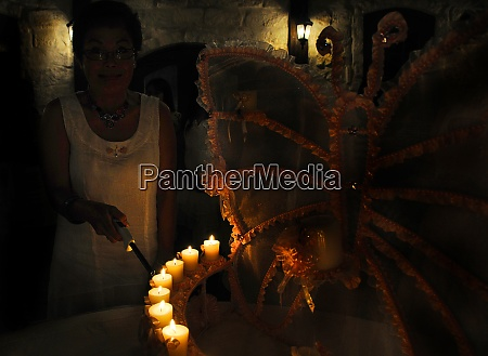 celebration ceremony with candles
