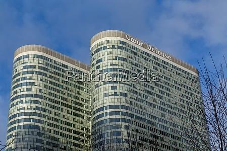 modern buildings of paris