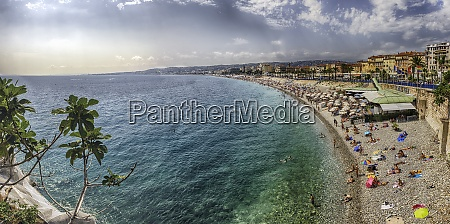 aerial view of the waterfront in