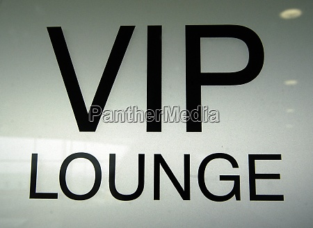 vip very important person sign