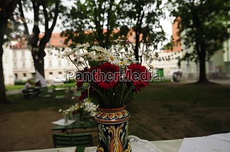 flower bouquet or flower arrangement