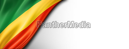 congolese flag isolated on white banner