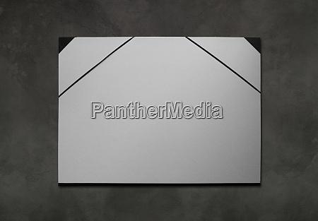 artist cardboard leaflet portfolio on a