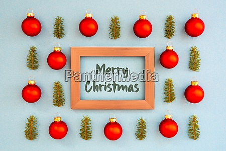 christmas texture ball branch frame merry