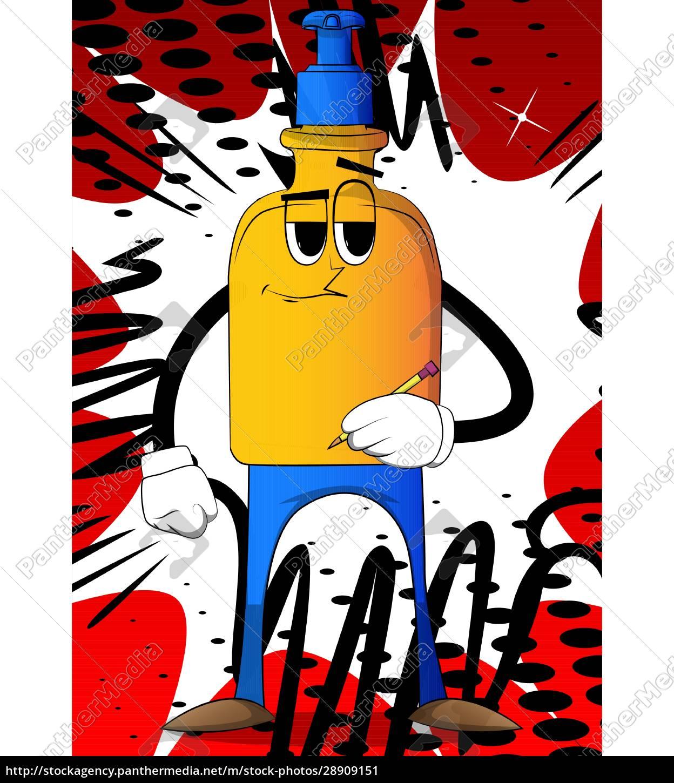 , bottle, of, hand, sanitizer, writing - 28909151