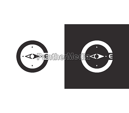 compass east direction isolated icon on