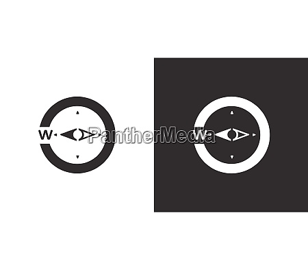 compass west direction isolated icon on
