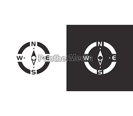 compass north direction isolated icon on