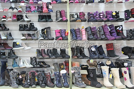 shoe shop with a lot of