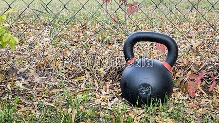 kettlebell outdoors backyard fitness