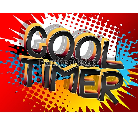 cool timer comic book style cartoon